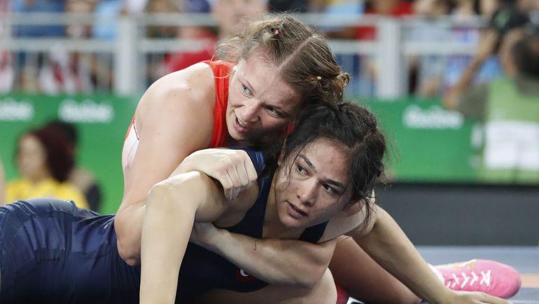 Инна ТРАЖУКОВА (слева) на Играх-2016 остановилась в шаге от бронзы. Фото AFP