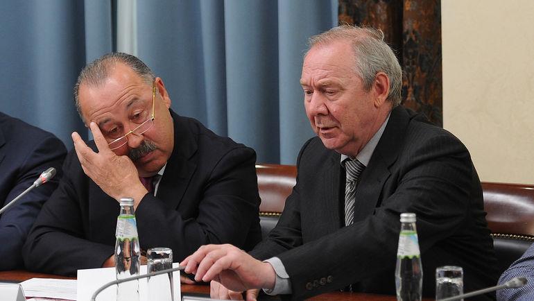 "Валерий ГАЗЗАЕВ и Олег РОМАНЦЕВ. Фото Алексей ИВАНОВ, ""СЭ"""