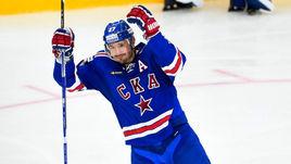 """Четверг. СКА - """"Салават Юлаев"""" - 7:1. Илья КОВАЛЬЧУК празднует собственный хет-трик."""