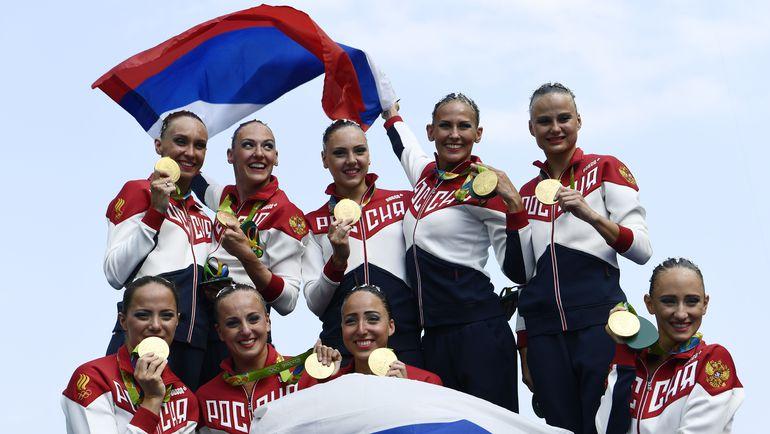 Русские русалки: золото! Фото AFP