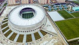 """Март 2016 года. Строительство стадиона """"Краснодара""""."""
