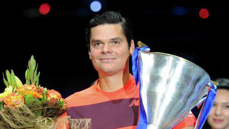 Победитель St. Petersburg Open-2015 Милош РАОНИЧ. Фото AFP