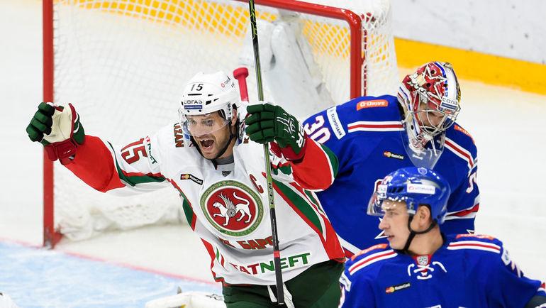 Вторник. Санкт-Петербург. В матче СКА - Ак Барс было заброшено 11 шайб. Фото photo.khl.ru