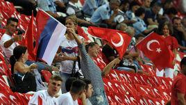 Среда. Анталья. Турция - Россия - 0:0. Болельщики сборной России.