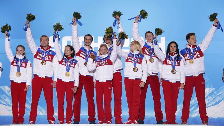 Сборная России - олимпийский чемпион Сочи в команде. Фото REUTERS