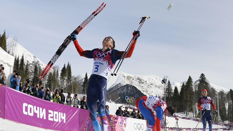 Олимпийский чемпион Сочи в лыжном марафоне Александр ЛЕГКОВ. Фото AFP