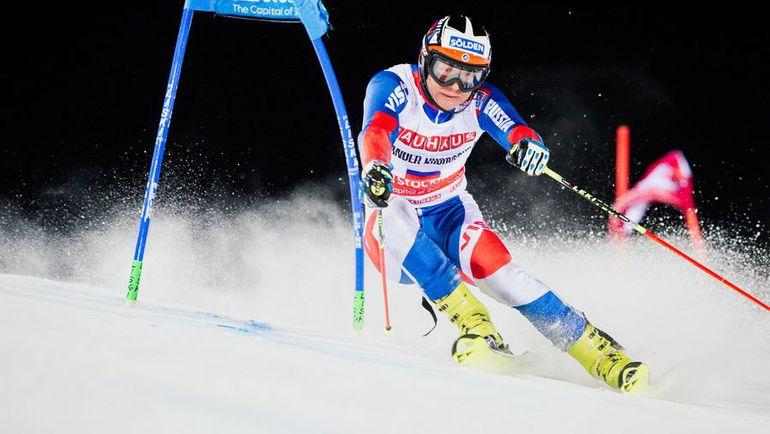 Самый известный российский горнолыжник Александр ХОРОШИЛОВ. Фото AFP