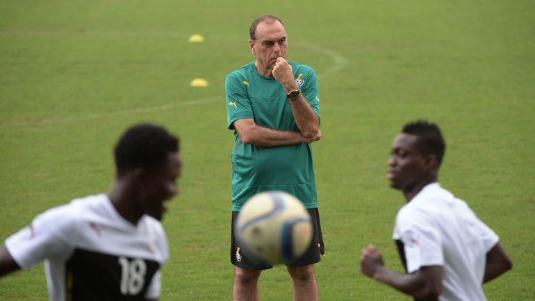 Тренировка сборной Ганы. Фото AFP