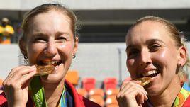 Олимпийские чемпионки Рио Екатерина МАКАРОВА и Елена ВЕСНИНА.