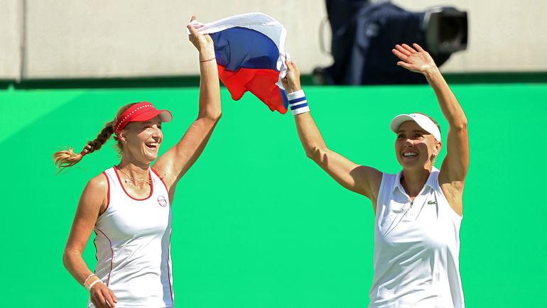 Олимпийские чемпионки Рио Екатерина МАКАРОВА и Елена ВЕСНИНА. Фото REUTERS