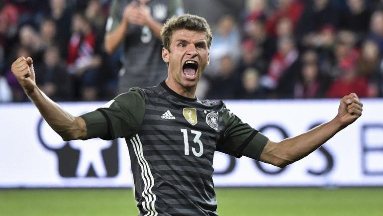 Воскресенье. Осло. Норвегия - Германия - 0:3. Радость Томаса МЮЛЛЕРА. Фото AFP