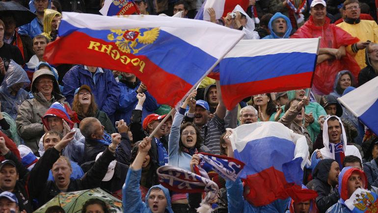 """Российские болельщики любят футбол в любую погоду. Но получают ли они того, чего достойны? Фото Александр ФЕДОРОВ, """"СЭ"""""""