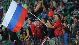 Сегодня. Москва. Россия - Гана - 1:0. Болельщики сборной России.