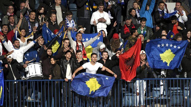 Понедельник. Турку. Финляндия - Косово - 1:1. Болельщики сборной Косова. Фото AFP