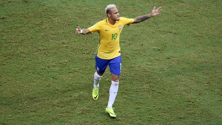 Понедельник. Манаус. Бразилия – Колумбия – 2:1. НЕЙМАР празднует забитый гол. Фото REUTERS