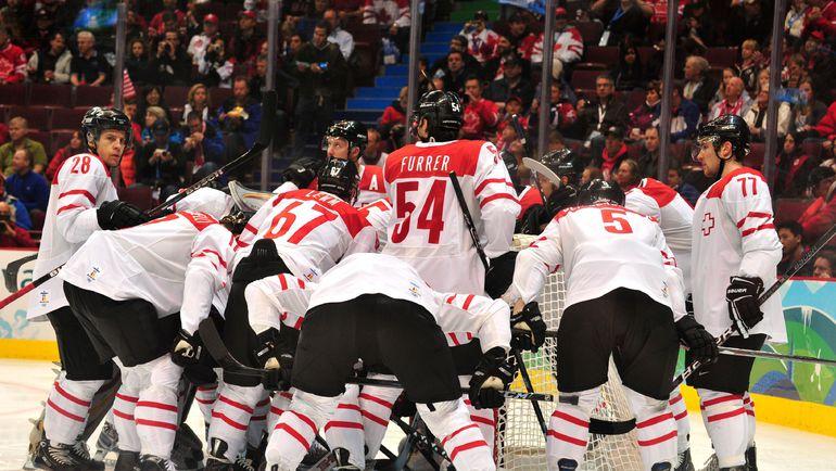 В Ванкувере сборная Швейцарии пошумела. Фото REUTERS
