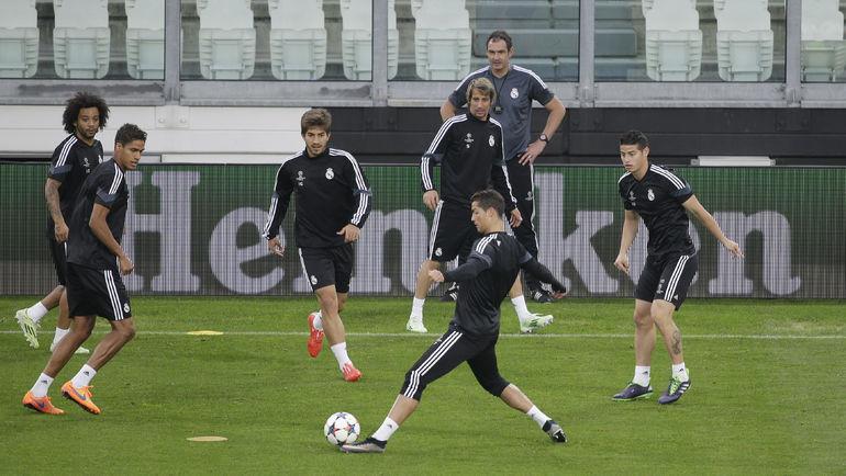 "Тренировка ""Реала"". Фото REUTERS"