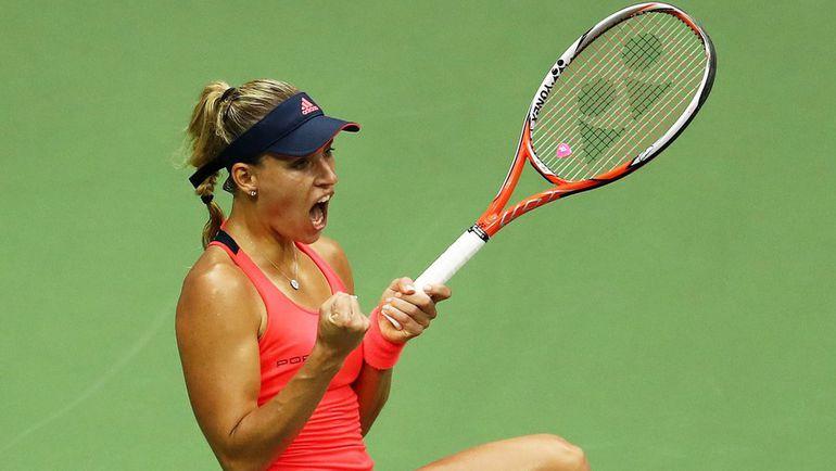 Ангелик КЕРБЕР - чемпионка Australian Open и US Open, финалистка Уимблдона и Олимпийских игр-2016, первая ракетка мира. Фото AFP