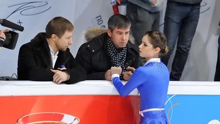 Юлия ЛИПНИЦКАЯ с тренером Алексеем УРМАНОВЫМ. Фото Ксения НУРТДИНОВА