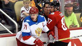 Среда. Питтсбург. Канада – Россия – 3:2 ОТ. Нападающий сборной России Евгений МАЛКИН.