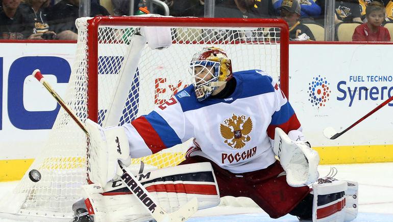 Среда. Питтсбург. Канада - Россия - 3:2 ОТ. Сергей БОБРОВСКИЙ. Фото AFP