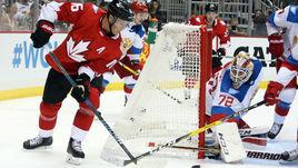 Среда. Питтсбург. Канада - Россия - 3:2 ОТ. В атаке Джонатан ТЭЙВЗ.