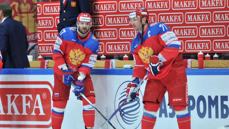 """Александр РАДУЛОВ (слева) и Илья КОВАЛЬЧУК. Фото Алексей ИВАНОВ, """"СЭ"""""""