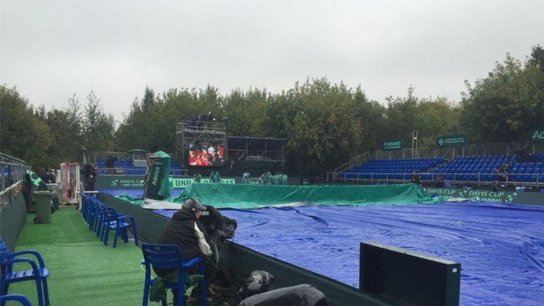 Московская погода мешает проведению матча Россия - Казахстан. Фото ФТР