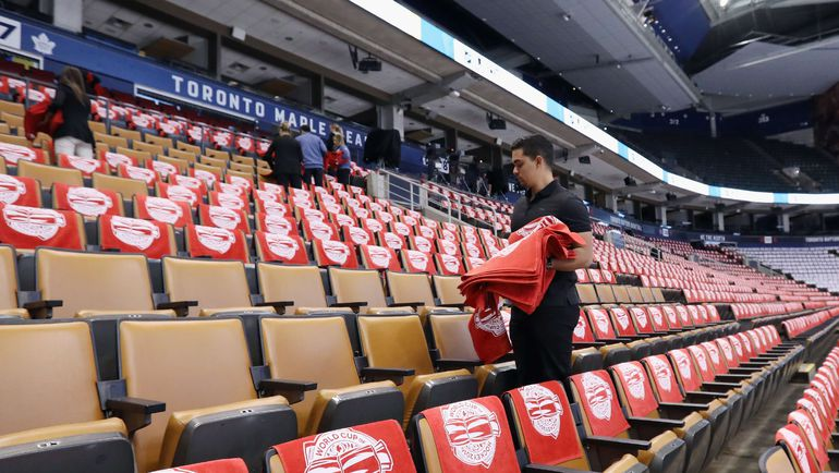 Трибуны арены в Торонто. Фото AFP