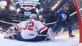 Сегодня. Торонто. Европы - США - 3:0. Мариан ГАБОРИК поражает ворота Джоната Куика.