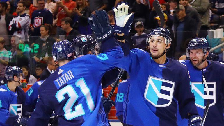 Суббота. Торонто. Европа - США - 3:0. Сборная Европы празднует победу над США. Фото AFP