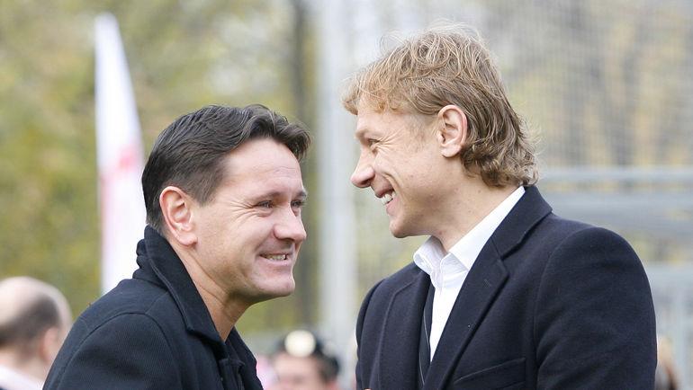 Дмитрий АЛЕНИЧЕВ и Валерий КАРПИН. Фото Алексей ИВАНОВ, «СЭ»