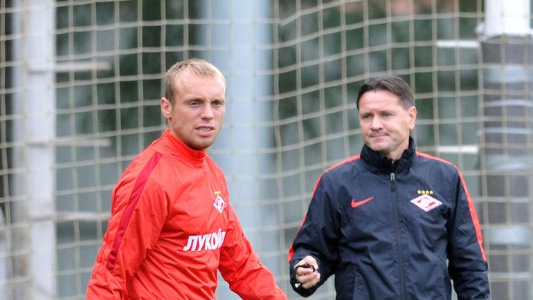 Денис ГЛУШАКОВ и Дмитрий АЛЕНИЧЕВ. Фото Никита УСПЕНСКИЙ, «СЭ»