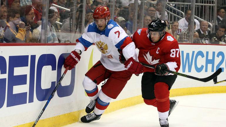 Дмитрий КУЛИКОВ и СИдни КРОСБИ. Фото REUTERS