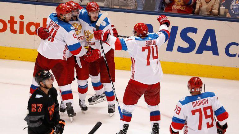 Понедельник. Торонто. Северная Америка - Россия - 3:4. Россияне одержали первую победу на турнире. Фото AFP