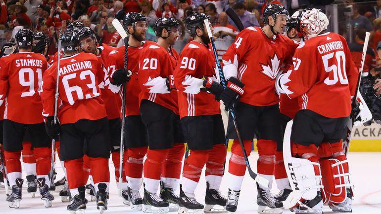 Среда. Торонто. Канада - Европы - 4:1. Сборная Канады празднует победу. Фото AFP