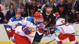 Вторник. Торонто. Россия - Северная Америка - 4:3. Павел ДАЦЮК атакует ворота соперника.