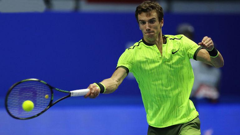 Андрей Кузнецов проиграл на St. Petersburg Open во втором круге чеху Томашу БЕРДЫХУ. Фото Spbopen.ru