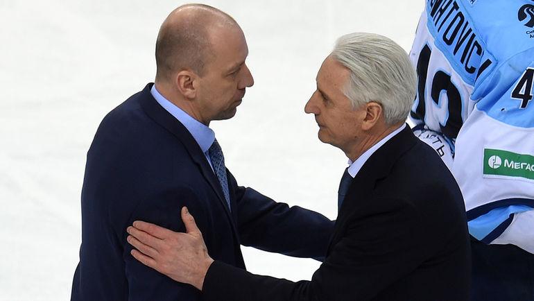 Андрей СКАБЕЛКА и Зинэтула БИЛЯЛЕТДИНОВ. Фото photo.khl.ru