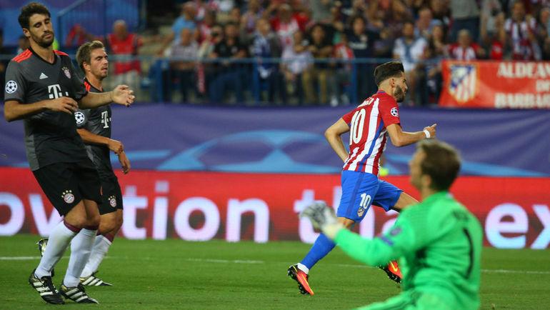 """Среда. Мадрид. """"Атлетико"""" – """"Бавария"""" – 1:0. 35-я минута. Гол Янника ФЕРРЕЙРА-КАРРАСКО (10) принес победу хозяевам. Фото REUTERS"""