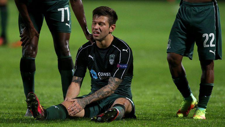 Федор СМОЛОВ забил гол и получил травму. Фото AFP