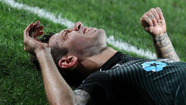 "Четверг. Краснодар. ""Краснодар"" - ""Ницца"" - 5:2. Боль Федора СМОЛОВА. Фото AFP"