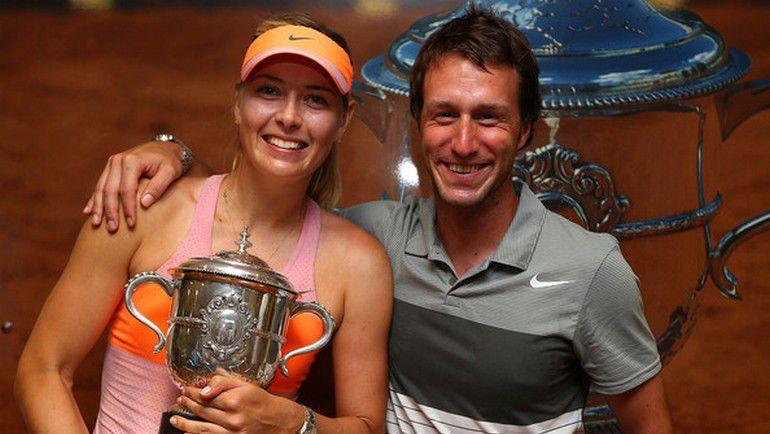 Дитер КИНДЛЬМАНН и Мария ШАРАПОВА после победы на Roland Garros-2014. Фото zimbio.com