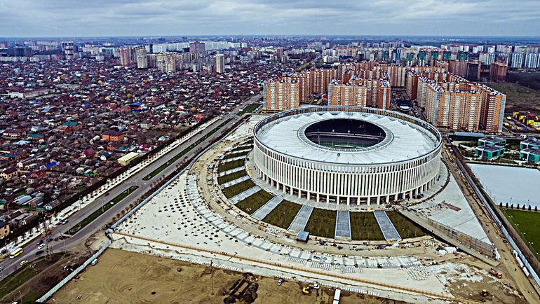 """Новый стадион """"Краснодара""""."""