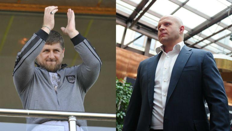 Рамзан КАДЫРОВ (слева) и Федор ЕМЕЛЬЯНЕНКО.