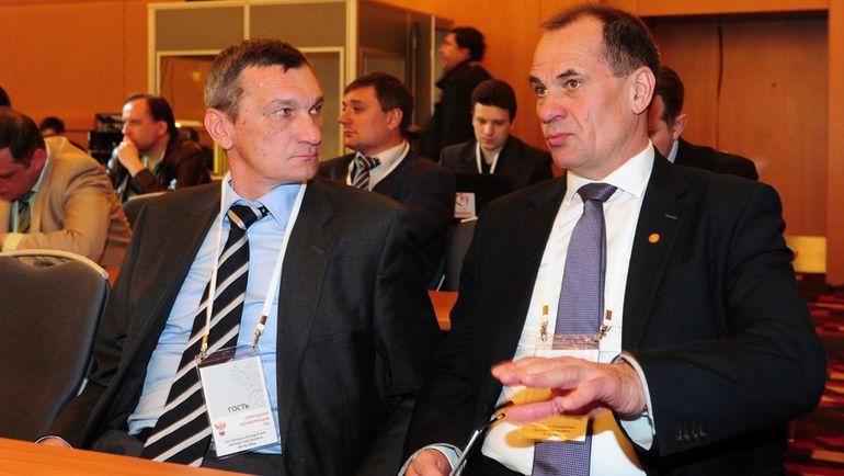 "Валентин ИВАНОВ (слева) и Николай ЛЕВНИКОВ. Фото Александр ФЕДОРОВ, ""СЭ"""