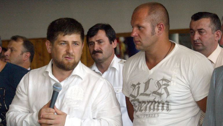 Рамзан КАДЫРОВ и Федор ЕМЕЛЬЯНЕНКО. Фото Саид БАЦУЕВ