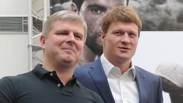 """Андрей РЯБИНСКИЙ (слева) и Александр ПОВЕТКИН. Фото Никита УСПЕНСКИЙ, """"СЭ"""""""