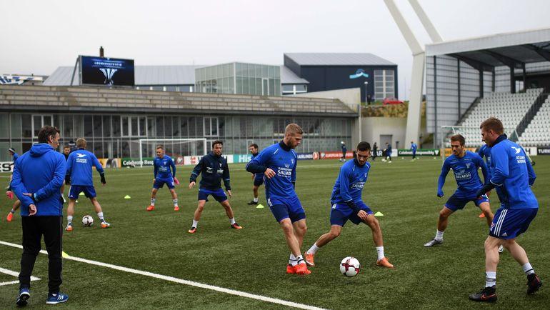 Воскресенье. Торсхавн. Тренировка сборной Фарерских островов. Фото AFP