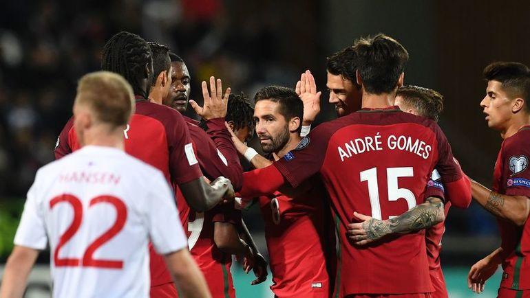 Понедельник. Торсхавн. Фарерские острова - Португалия - 0:6. Португальцы потеснили хозяев со второго места в группе B. Фото AFP
